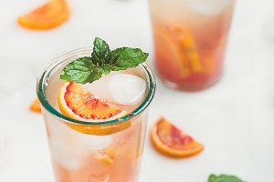 Blood orange fresh summer lemonade