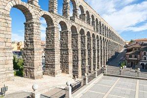 View Aqueduct of Segovia,Spain.