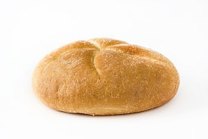Round baked bread