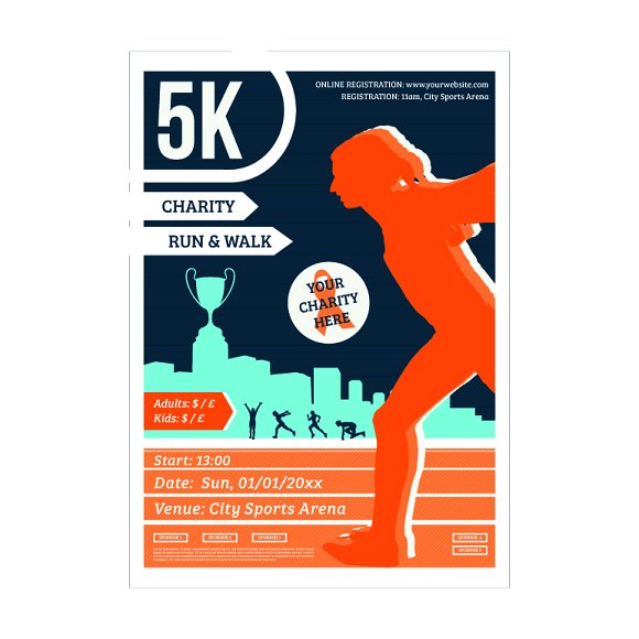 5k Charity Marathon Poster