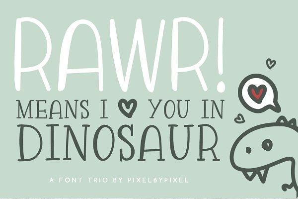 Rawr Sans Serif Font Trio
