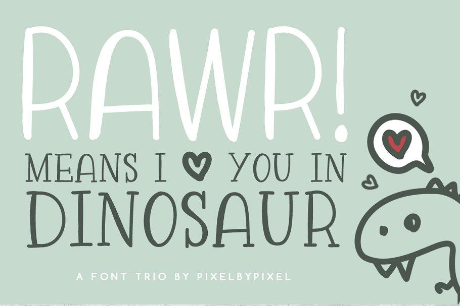 Rawr Sans Serif Font Trio Sans Serif Fonts Creative Market