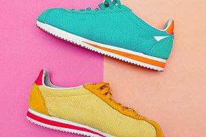 Vintage sneakers. Minimal fashion