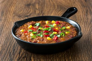 Mexican tex mex chili con carne