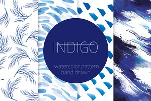 INDIGO–hand drawn pattern