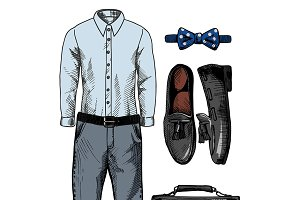 Stylish men's clothing set