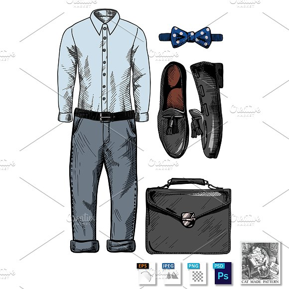 Stylish MenЎЇs Clothing Set