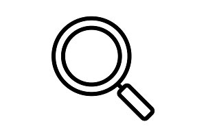 Magnifying glass linear icon