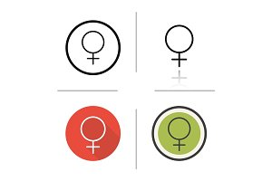 Women gender symbol icon