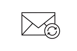 Refresh email linear icon