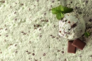 Ice cream flavored mint choc top
