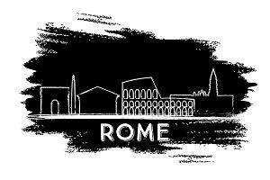Rome Skyline Silhouette.
