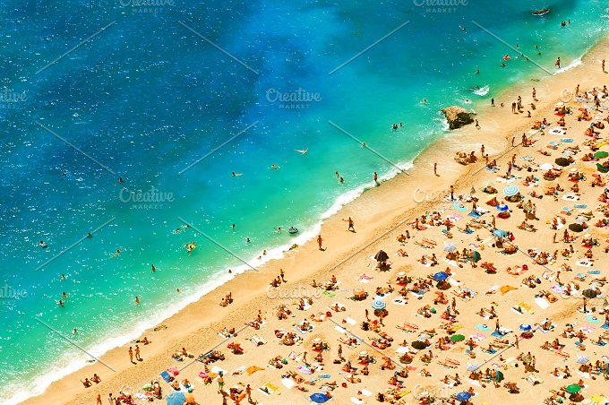 People on the sea Beach. Summer Sea - Holidays