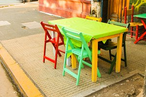 Colourful Vintage Terrace Detail