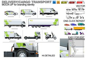 Delivery / cargo transport mockup