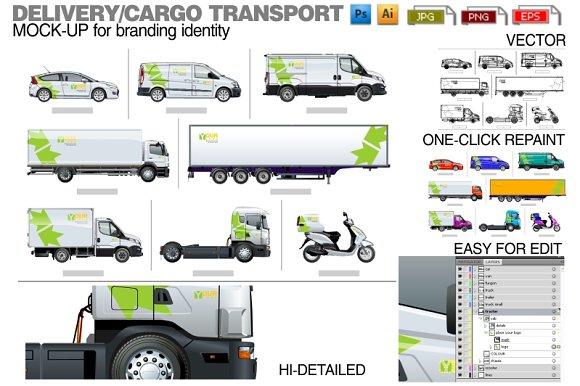 Download Delivery / cargo transport mockup