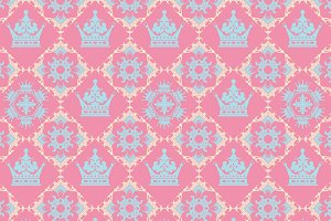 Pink Background Royal Pattern