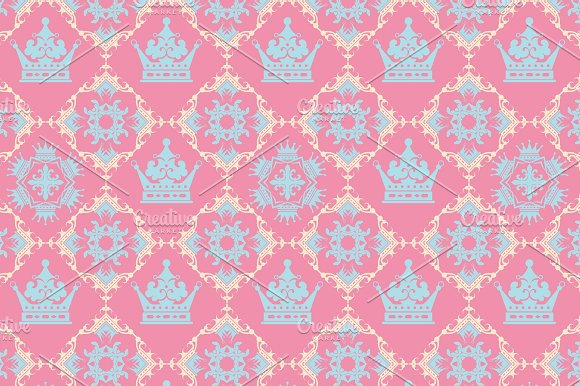Pink Background Royal Pattern Graphic Patterns Creative Market Simple Pink Patterns