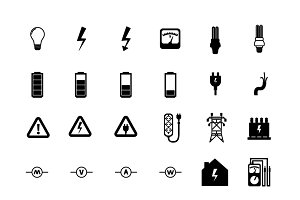 Electrician icons