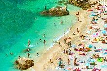 People on the sand beach