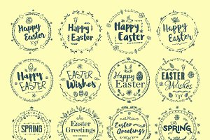Easter words icons