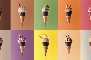 Assortment ice cream pattern