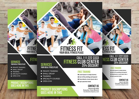 Health Fitness Flyer Flyer Templates Creative Market – Free Fitness Flyer Templates