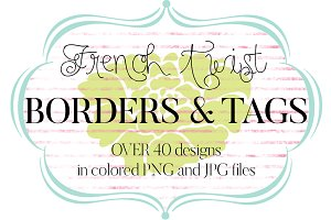 French Twist Borders & Tags