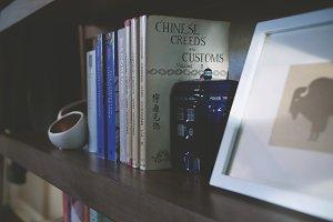 A Well Traveled Book Shelf