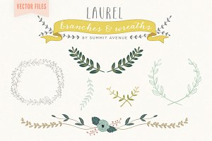Vector Laurel & Wreath designs