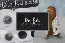 Procreate fur brush