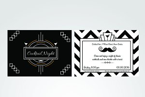 Cocktail night invitation