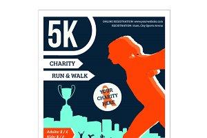 5k charity run poster