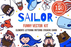Sailor - nautical vector kit