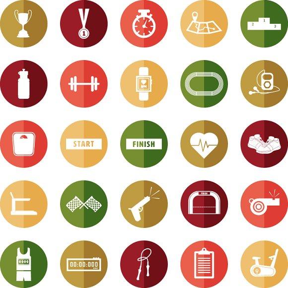 Charity Marathon Icons