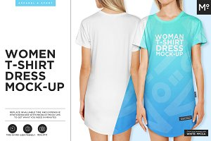 Women T-shirt Dress Mock-up