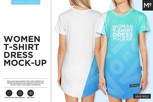 Women T-shirt Dress Mock-up