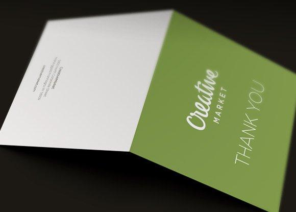 corporate thank you card template card templates creative market