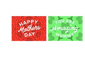 Mothers day card pack