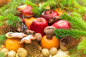 Christmas Fruits ans Cookies