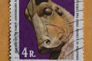 Bull Head Postage Stamp