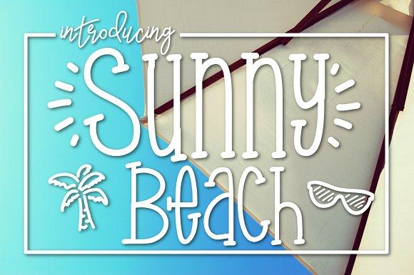 Sunny Beach A Handwritten Typeface