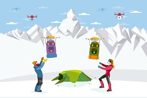 Drones and Climbers