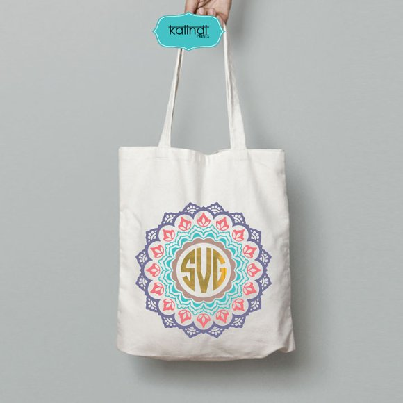 Mandala monogram svg in Illustrations - product preview 1