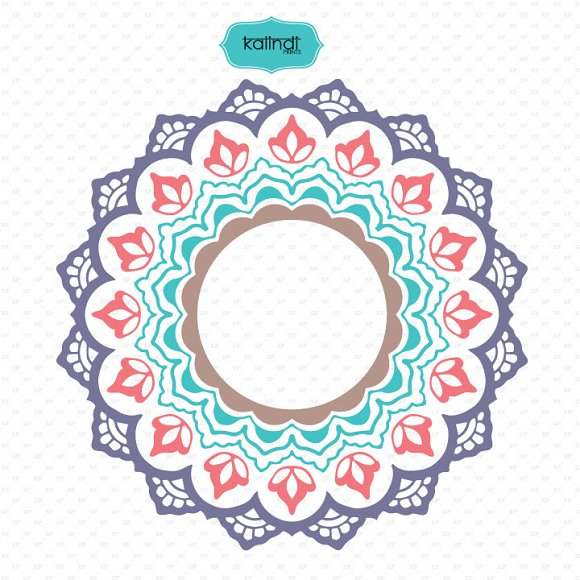 Mandala monogram svg in Illustrations - product preview 3