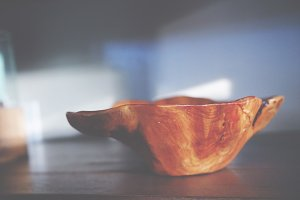 Wood Bowl Closeup