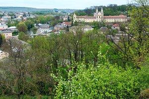 Buchach town spring view, Ukraine
