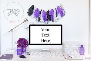 Purple Desktop Computer Mockup