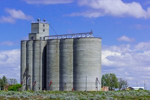 Concrete grain storage silo
