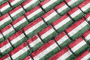 Hungary Flag Urban Grunge Pattern